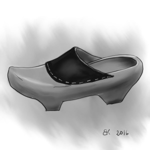 How to Draw Old wood Clogs - Sketch 30