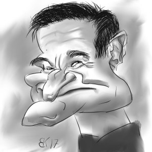 How to Draw A Caricature of Robin Williams - Sketch 50