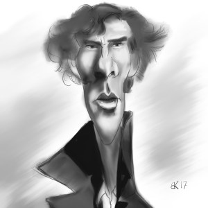 How to Draw Benedict Cumberbatch as Sherlock - Sketch 60