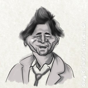 Peter Falk aka Detective Columbo Caricature - Sketch 108