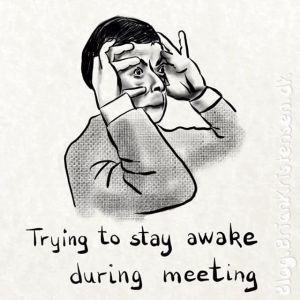 Trying to Stay Awake During Meeting - Sketch 212