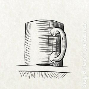 How to Draw a Coffee Mug on a Shelf - Sketch 248