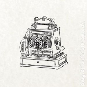 How to Draw an Old Cash Register - Sketch 256
