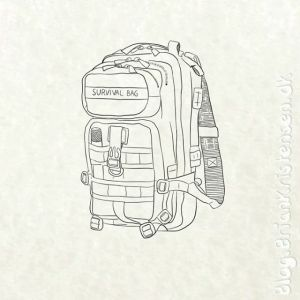 Drawing a Survival Bag - Sketch 319