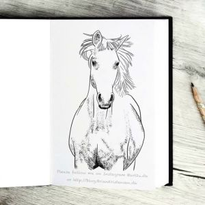 Drawing a White Horse - Sketch 370