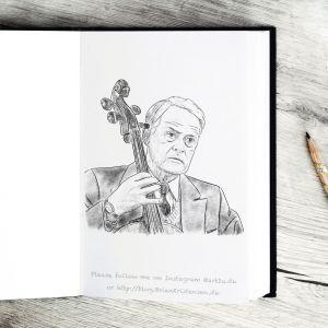 Pen and Ink Drawing of Dr. Hansen in Matador - Sketch 423