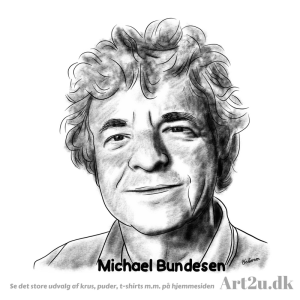 Pen and Ink Drawing of Michael Bundesen From Shubidua - Sketch 542