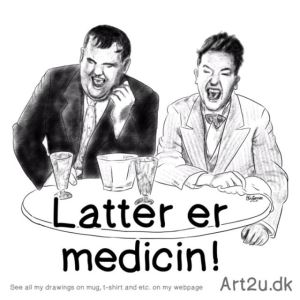 Pen and Ink Drawing of Laurel and Hardy - Sketch 586