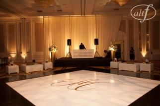 Monogrammed dance floor