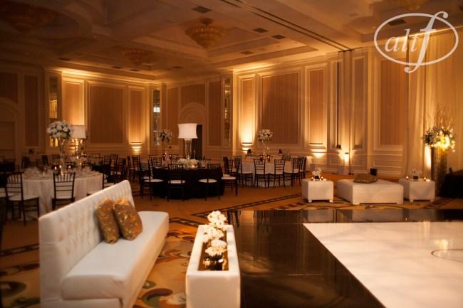 Wedding reception lounge style