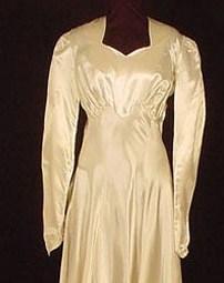 1940's War Bride Wedding Gown