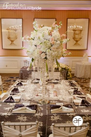 Wedding Design: Glitterati Weddings & Events | Floral: Jovani Linens | Rentals: Current Events / Jovani Linens