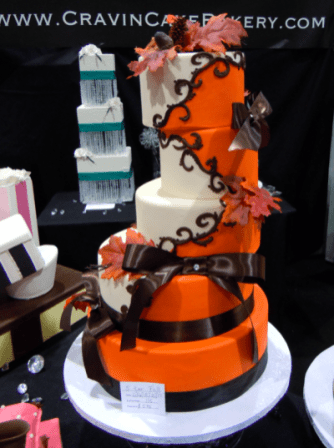 Wedding cake by Cravin' Cake Bakery.