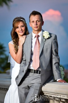 Wedding Portrait of Elizabeth and Tyler by John Morris
