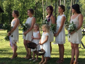 Ivory & Green Wedding