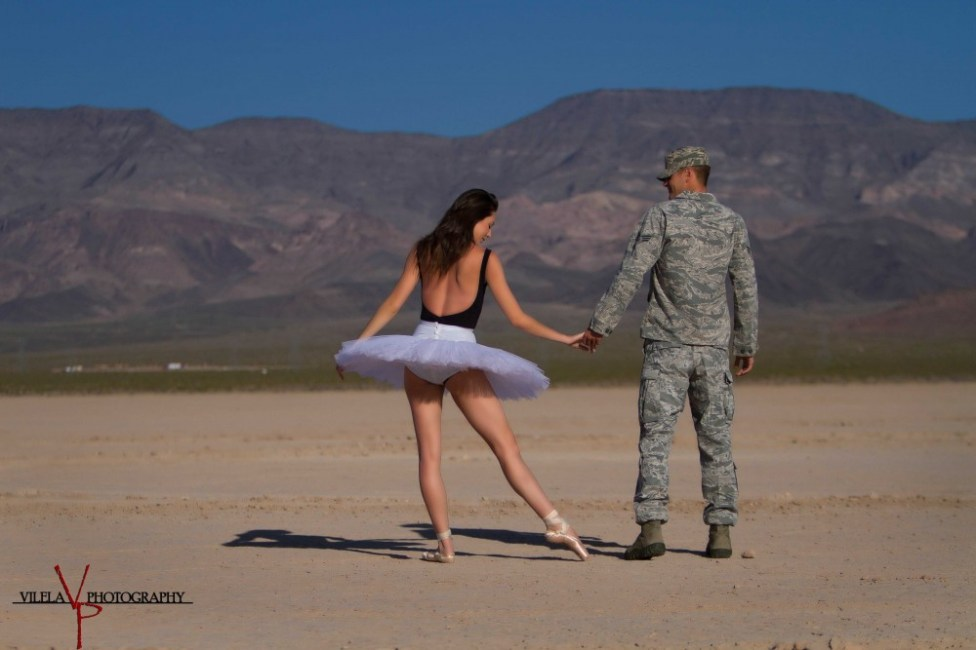 The Ballerina and The Airman by Vilela Photography