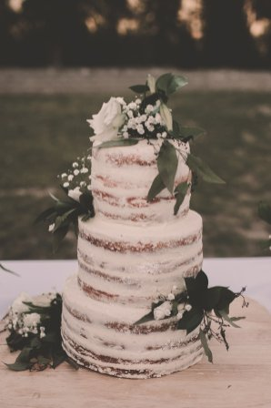 Floral Accents on Cake