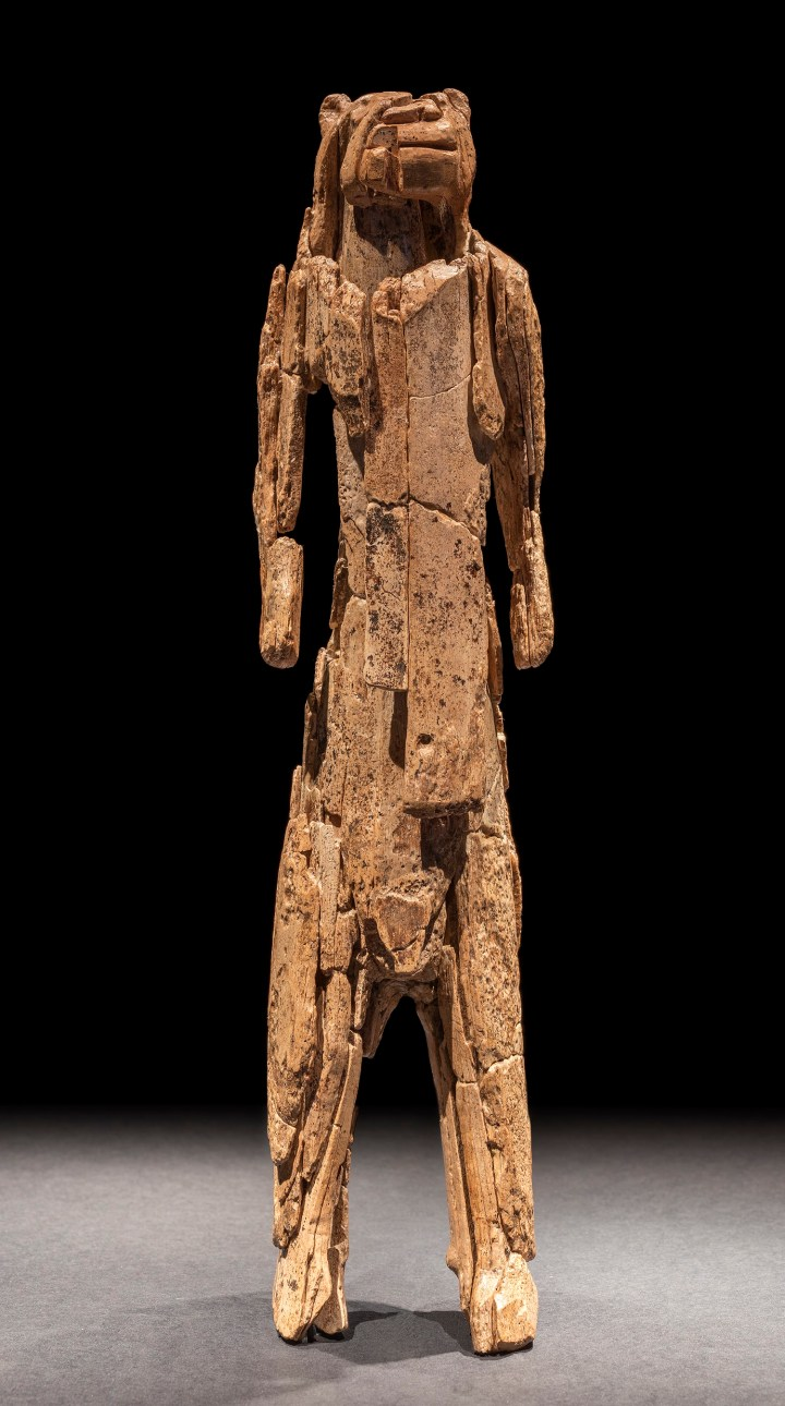 The Lion Man figurine, discovered in the Stadel Cave, Baden-Wurttemberg, Germany, 40,000 years old.