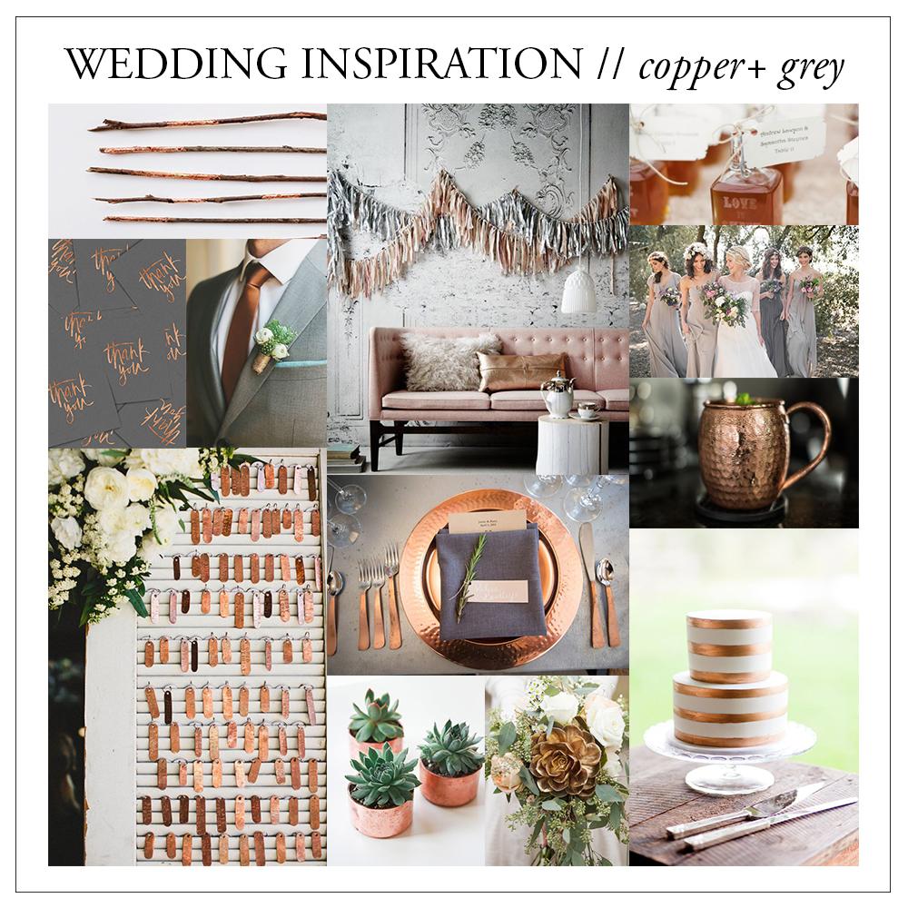 Wedding Inspiration Copper Grey Brittany Bekas