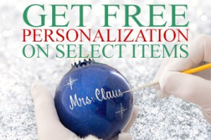 Get free personalization at www.bronners.com