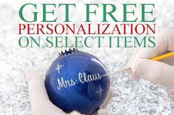 Free Personalization on select items at Bronners.com
