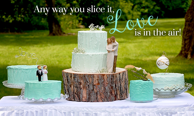 Bridal Bliss Cake Toppers from Bronner's