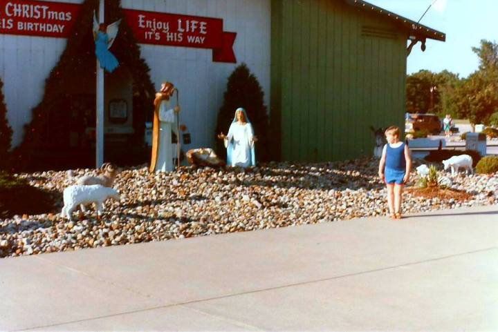 Joe & Bronner's life-size Nativity Aug. 1986