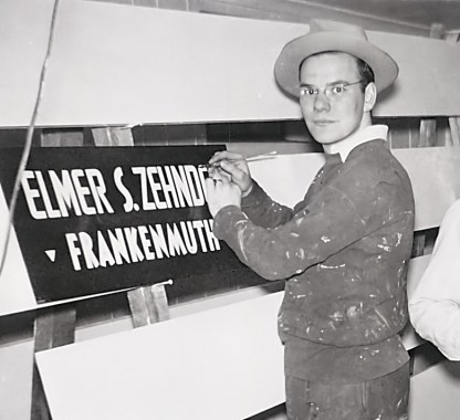 Bronner's Christmas Wonderland originator Wally Bronner started off as a young sign painter.