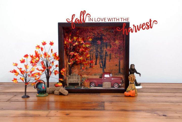 Department 56 Fall Display Shadow Box
