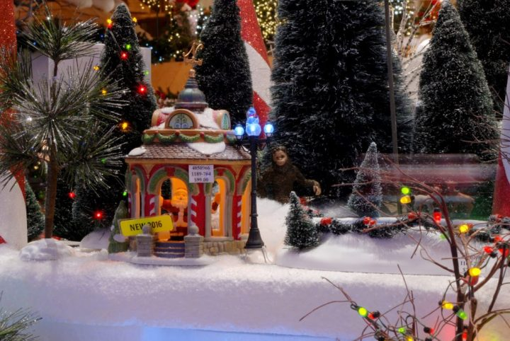 Sasquatch Hidden In Department 56 Village At Bronner's Christmas Wonderland In Frankenmuth, Michigan