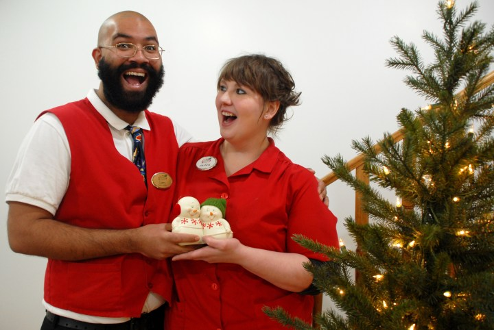 Larry And Amanda At Bronner's With D56 Snowpinion