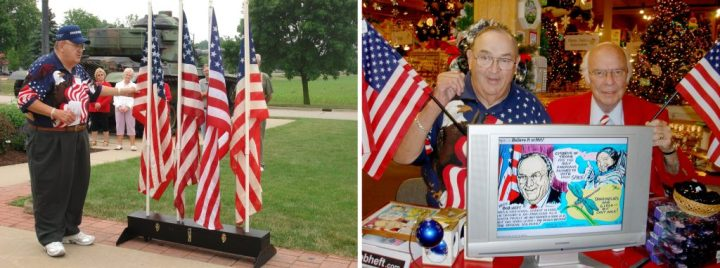 Bob Heft American Flag Designer With Wally Bronner