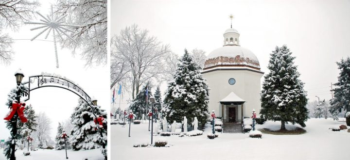 Bronner's Silent Night Memorial Chapel In Snow
