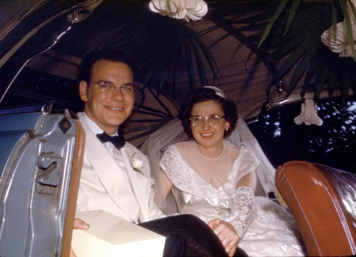 Wally And Irene Bronner Decorated Wedding Car