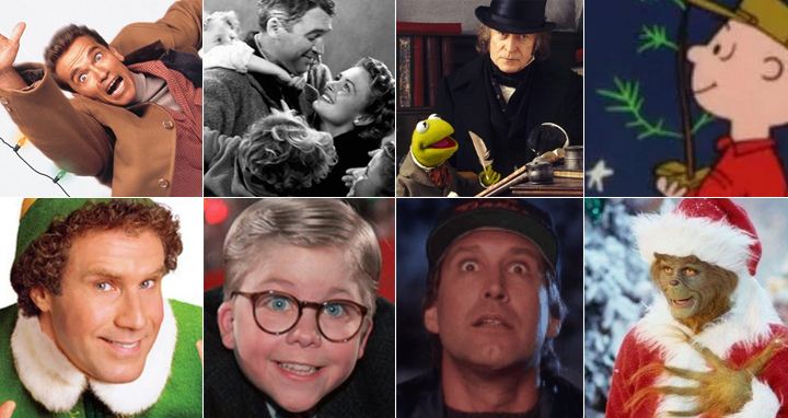 Popular Christmas Movies collage