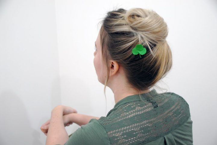 DIY Shamrock Hairpin