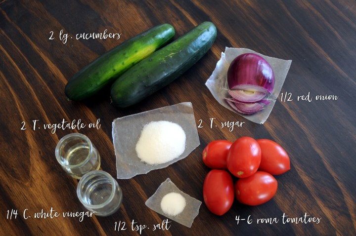 Bronner's Cucumber Salad Recipe Ingredients