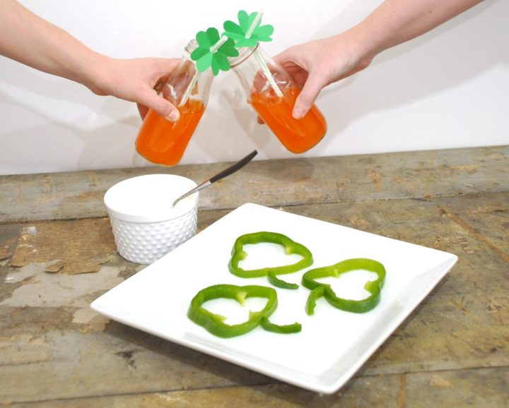 Shamrock Bell Peppers And Orange Soda Toast For St. Patrick's Day