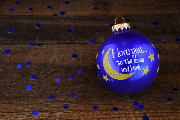 I Love You To The Moon And Back Bronner's Exclusive Glass Ornament