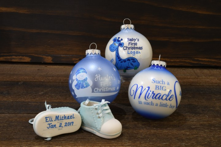 Baby Boy Christmas Ornaments From Bronner's Christmas Wonderland.