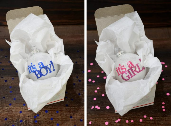 Gender Reveal Bronner's Exclusive Glass Ornaments: It's A Boy! It's A Girl!