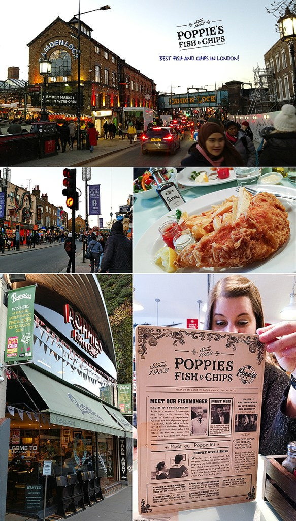 Famous Poppies Fish And Chips At Camden Market In London England