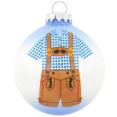 Bronner's exclusive Lederhosen Glass Christmas Ornament, 1189300