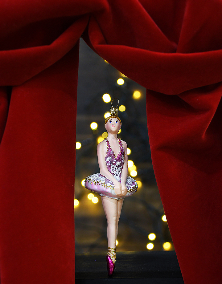 Ballerina Glass Ornament From Bronner's Christmas Wonderland