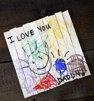 Children's Father's Day Gift Coaster