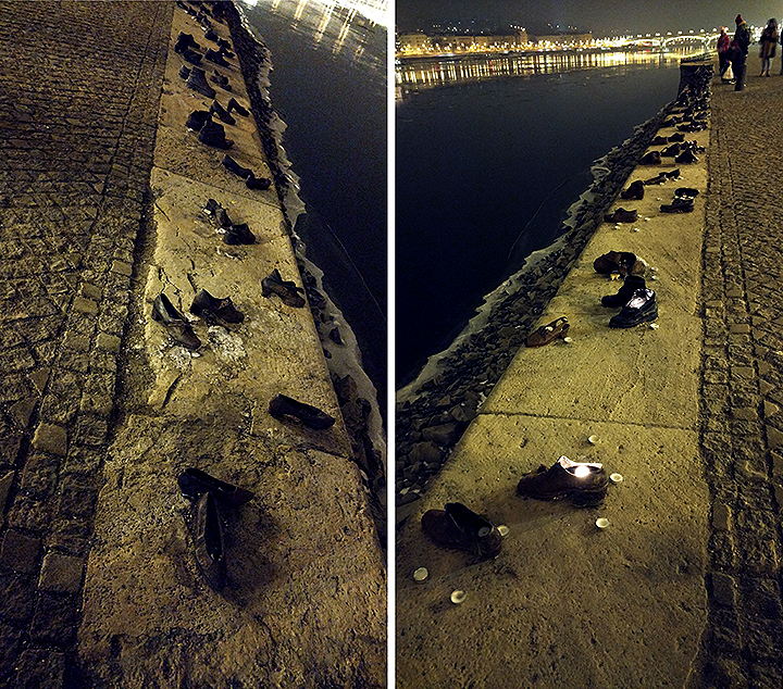 Shoes On The Danube, Budapest's Moving Jewish Memorial At Night.