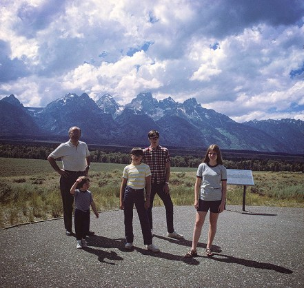 Wally Bronner And Kids In Wyoming, 1969