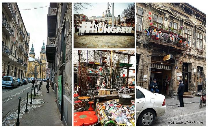 Budapest Hungary, Szimpka Kert Ruins Pub; from Libka Girls Take Europe Trip