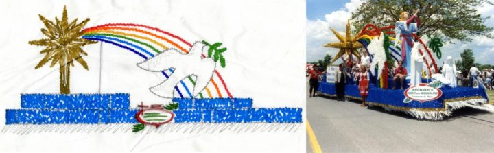 1994 Parade float and sketch.