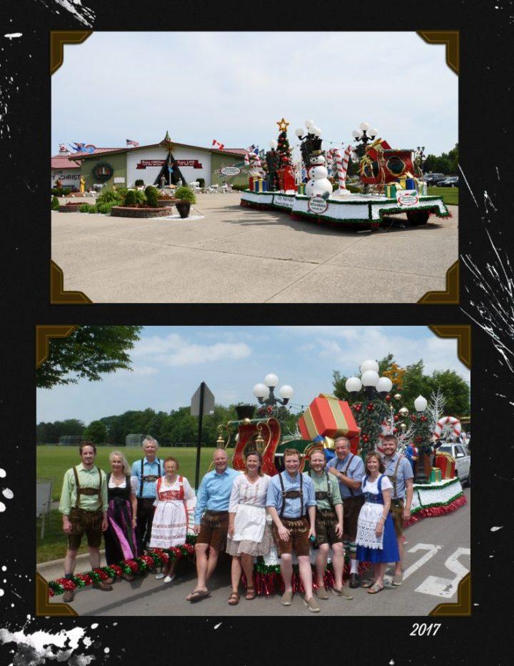 Bronner's 2017 Bavarian Festival Parade Float
